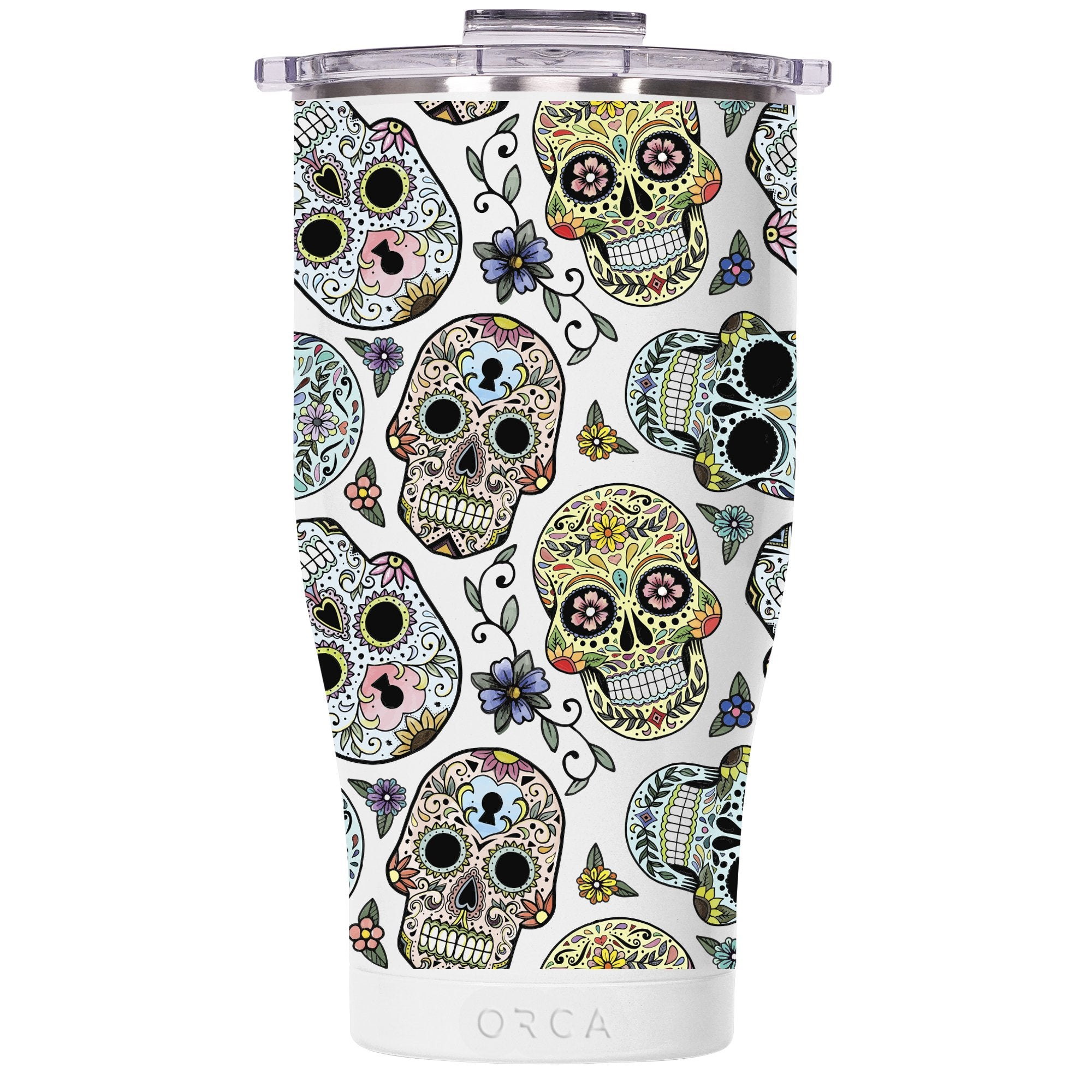 Candy Skulls Pearl/Clear 27oz Chaser - ORCA