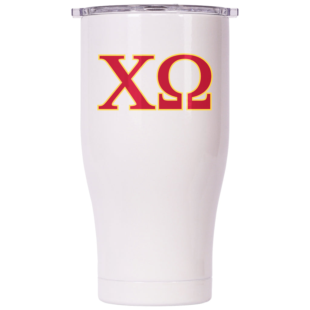 Chi Omega Pearl/Clear Chaser 27oz - ORCA