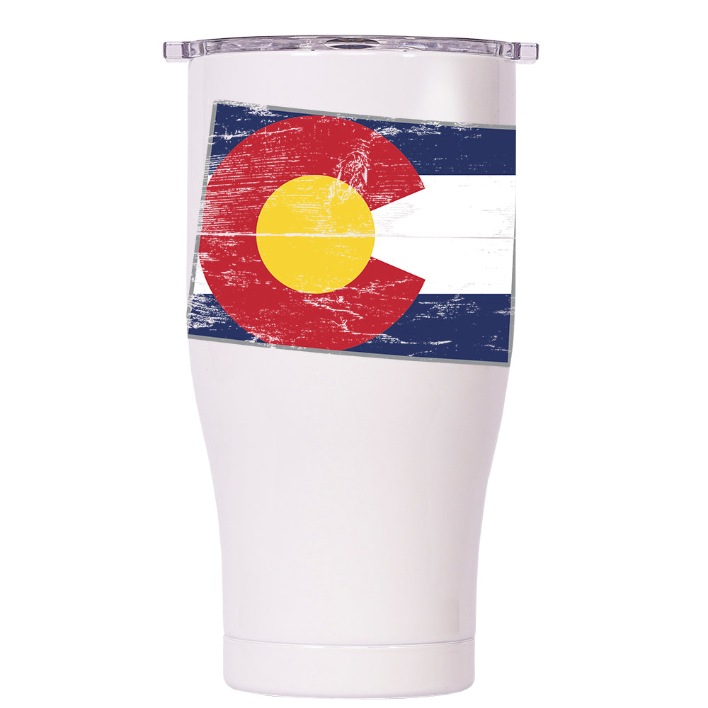 Colorado State Flag Distressed Chaser 27oz - ORCA