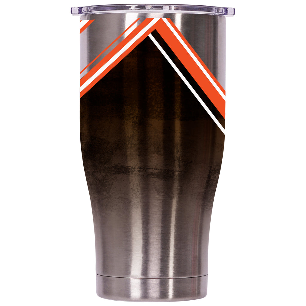 Cleveland Browns Double Stripe Wrap Chaser 27oz - ORCA