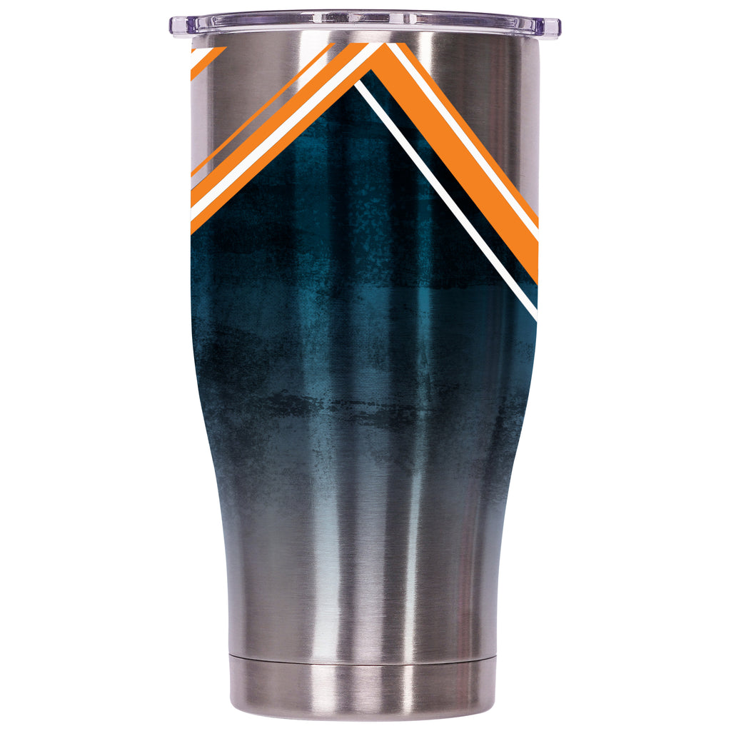 Miami Dolphins Double Stripe Wrap Chaser 27oz - ORCA