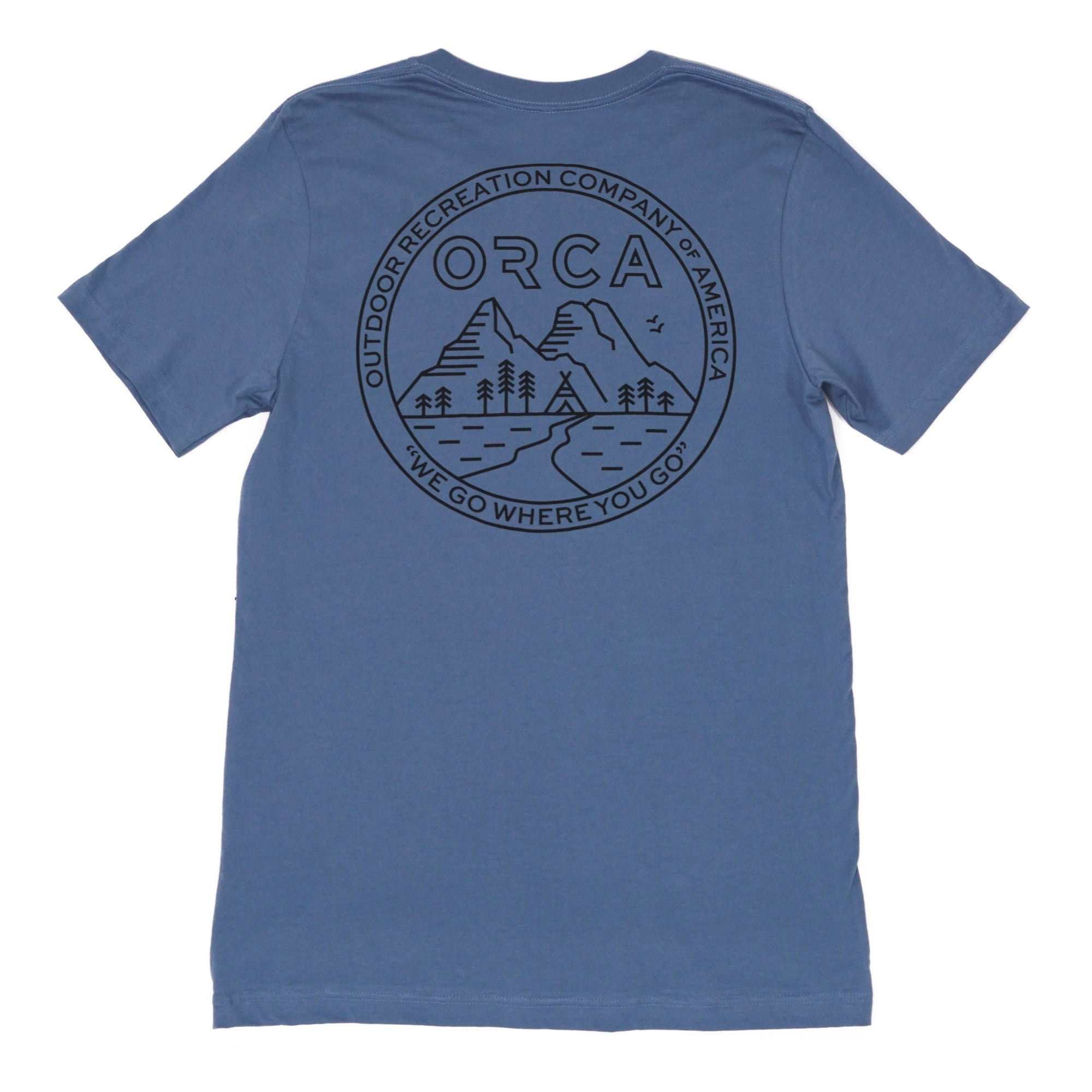 Go Camping Steel Blue T-Shirt