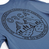 Go Camping Steel Blue T-Shirt - ORCA