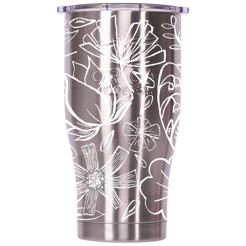 Floral Sketch 27oz Chaser Stainless - ORCA