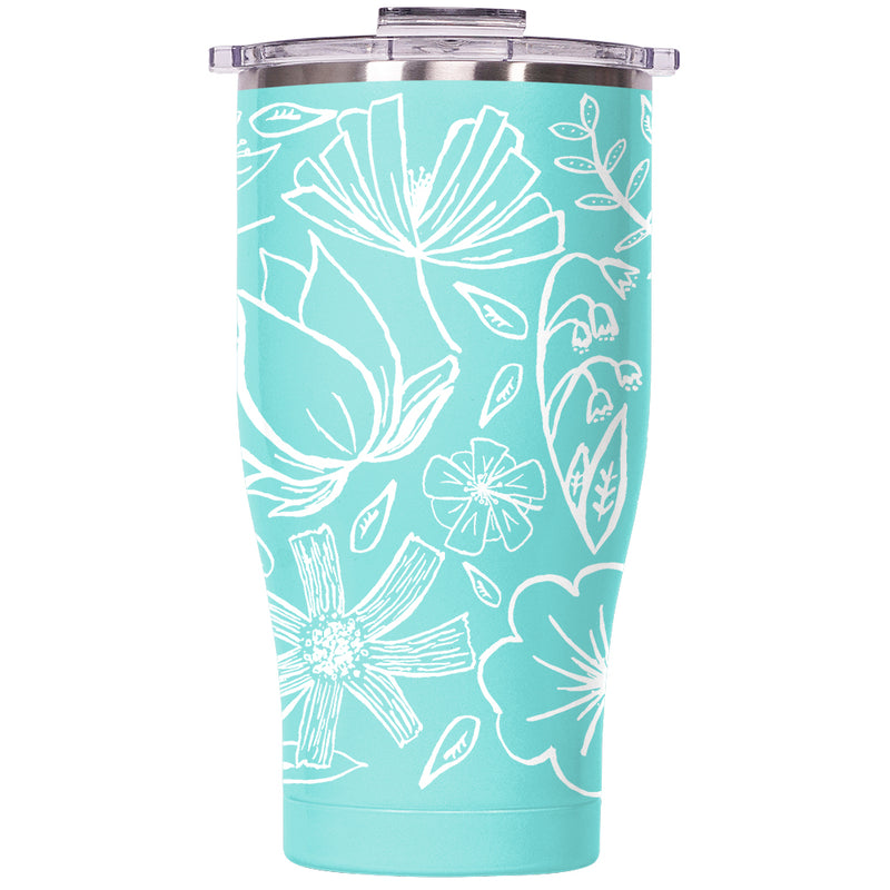 Floral Sketch 27oz Chaser Seafoam/Clear - ORCA
