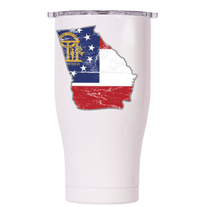 Georgia State Flag Distressed Chaser 27oz - ORCA