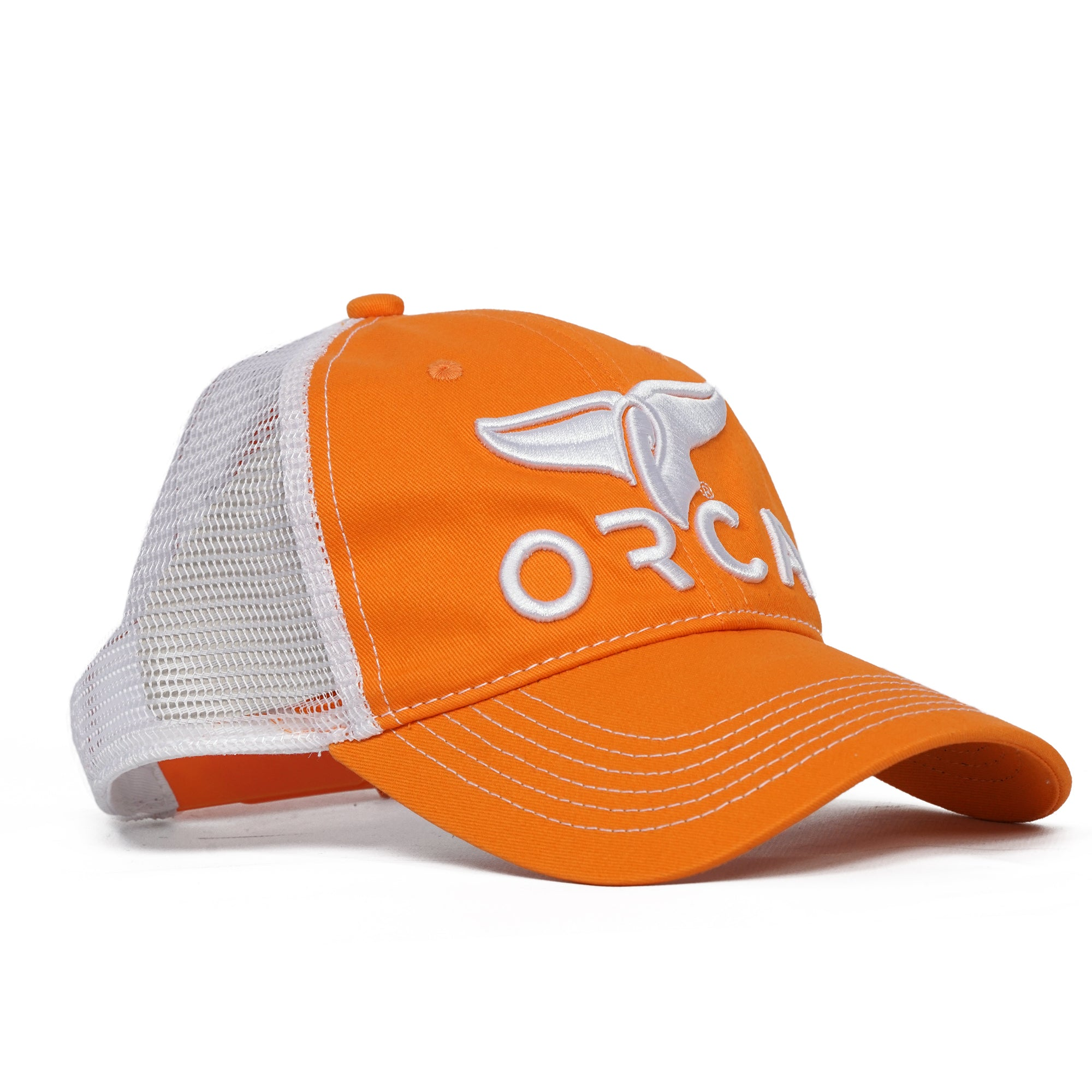 Low Profile Trucker Orange Hat