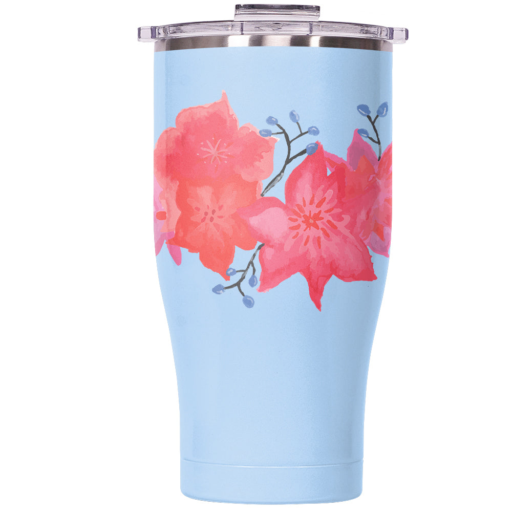 Hula Flowers Chaser 27oz Light Blue/Clear