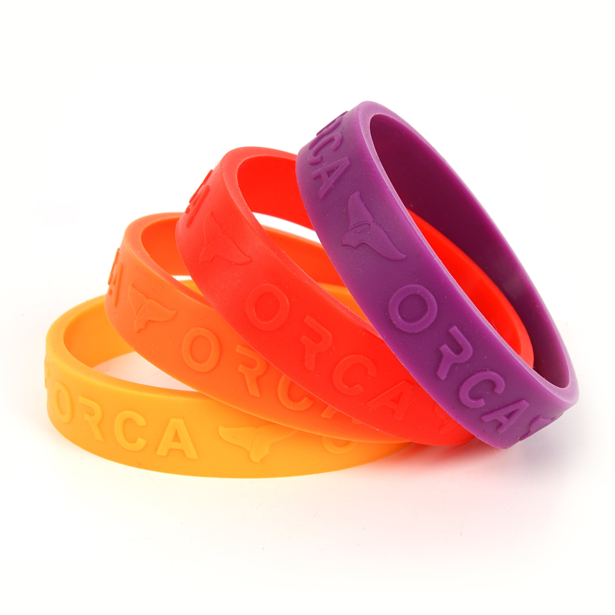 Retro Sunset Colors Band Set of 4