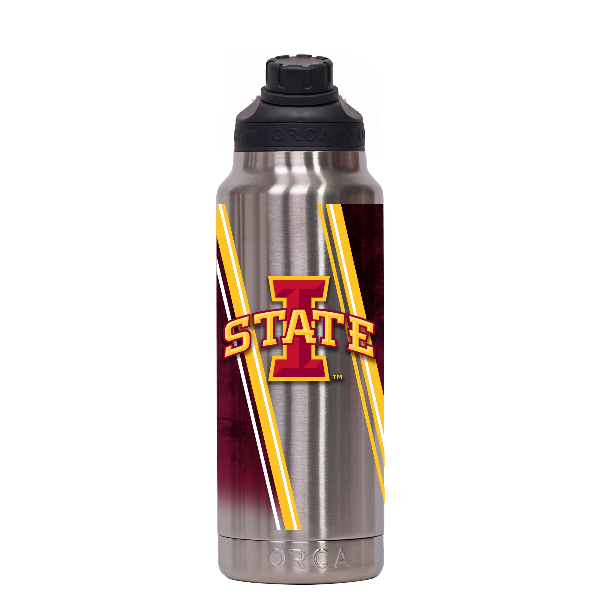 Iowa State Double Stripe Wrap Hydra 34 oz. - ORCA