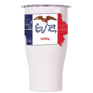 Iowa State Flag Distressed Chaser 27oz - ORCA
