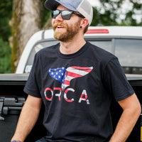 Flag Logo Black Short Sleeve - ORCA