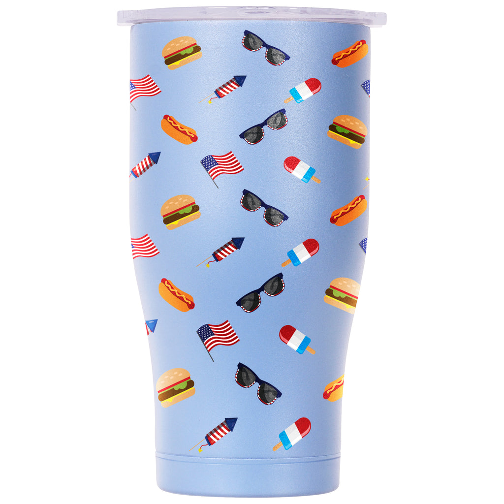 All American Cookout 27oz Chaser Powder Blue/White - ORCA