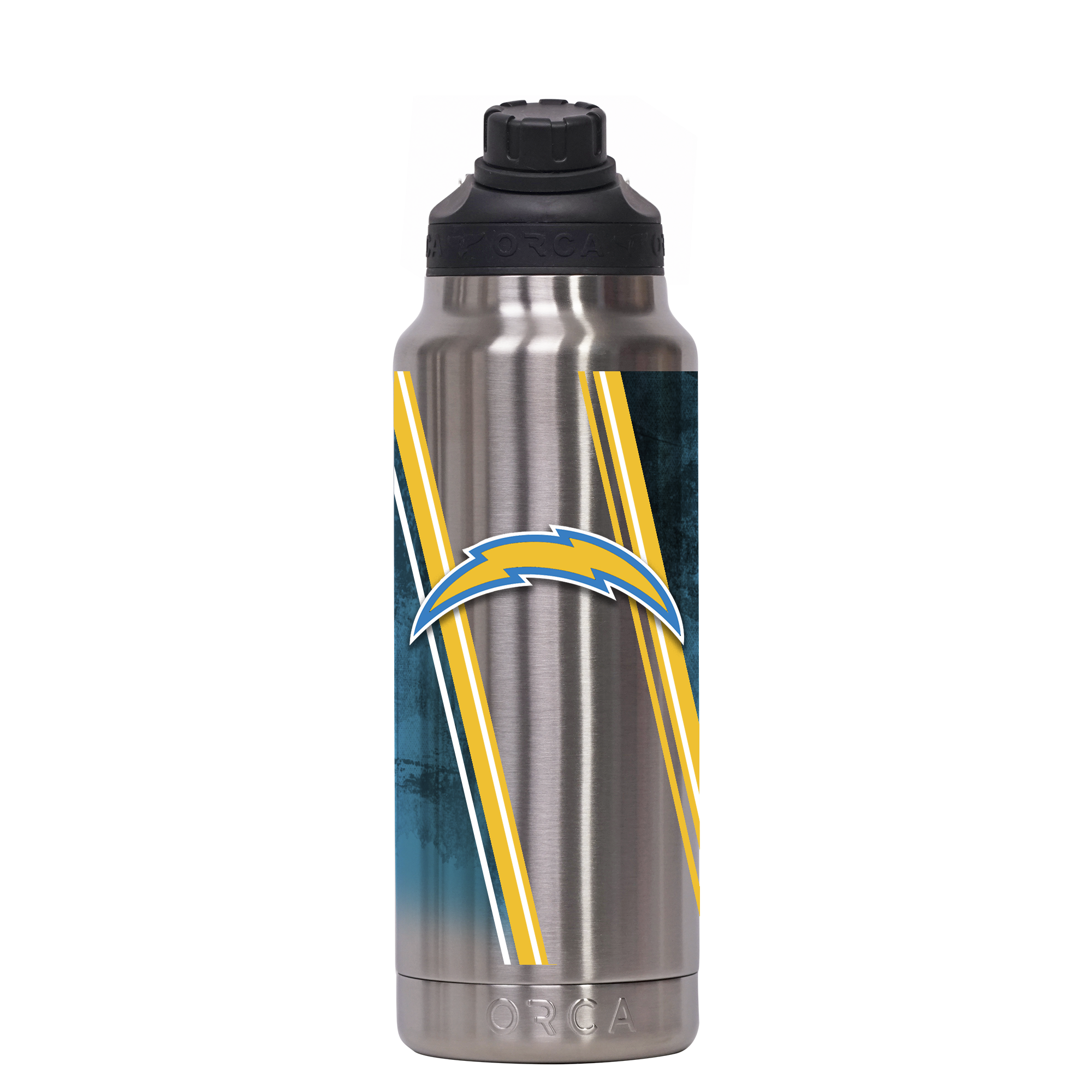 Los Angeles Chargers Double Stripe Wrap Hydra 34 oz. - ORCA