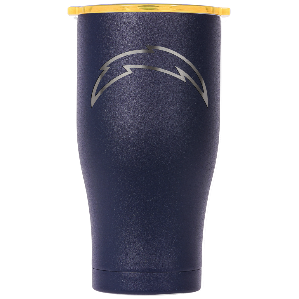 Los Angeles Chargers Navy/Gold Etched Chaser 27oz - ORCA