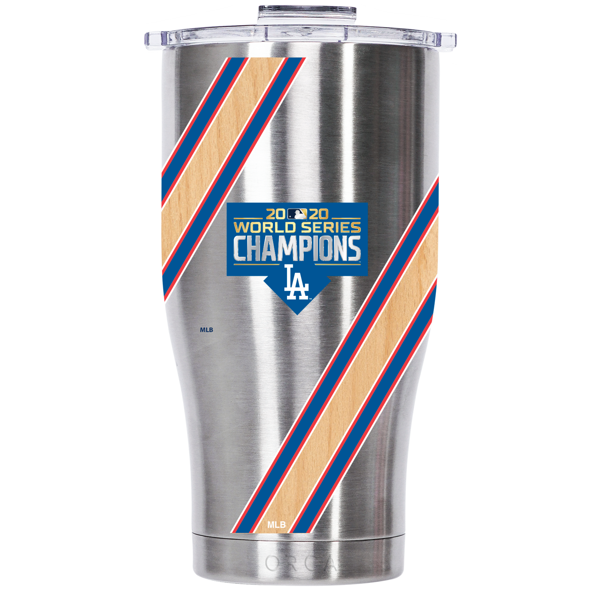WS Champs 2020 Los Angeles Dodgers Wood Stainless Chaser 27 oz. - ORCA