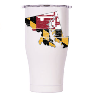 Maryland State Flag Distressed Chaser 27oz - ORCA