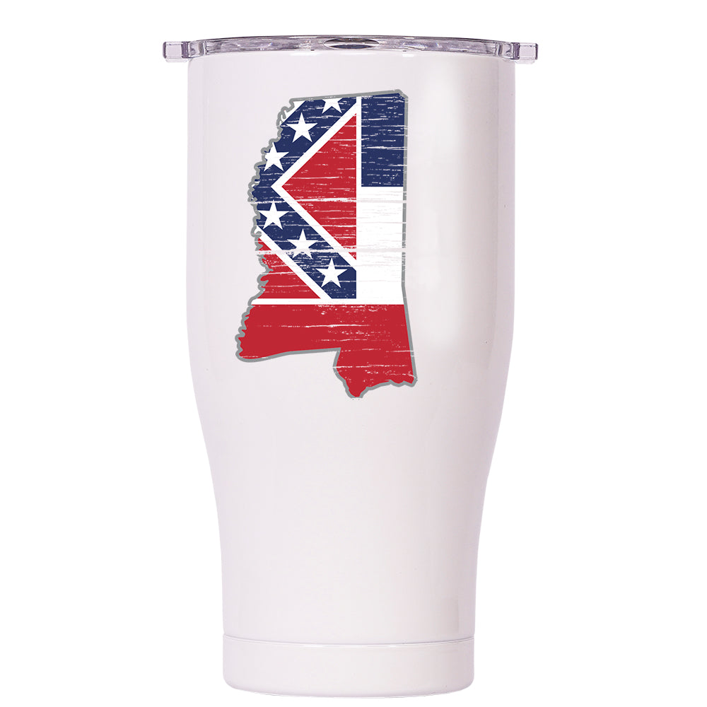 Mississippi State Flag Distressed Chaser 27oz - ORCA