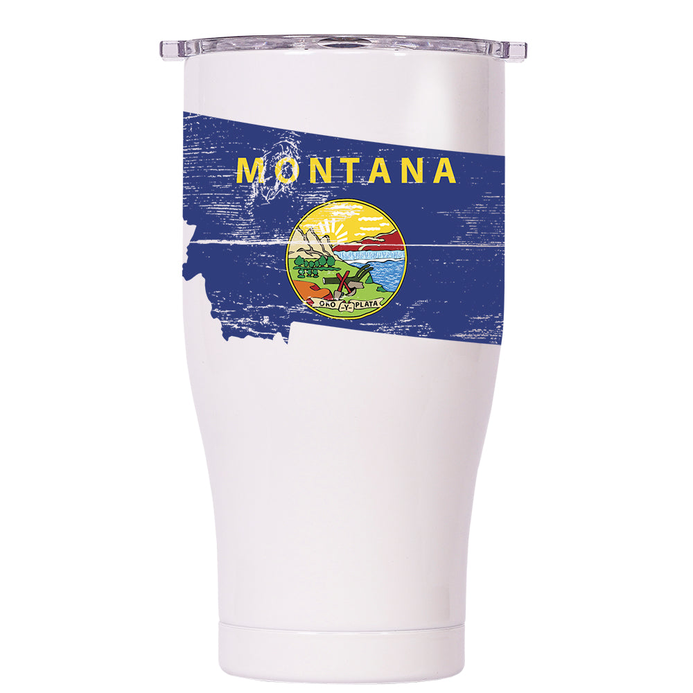 Montana State Flag Distressed Chaser 27oz - ORCA