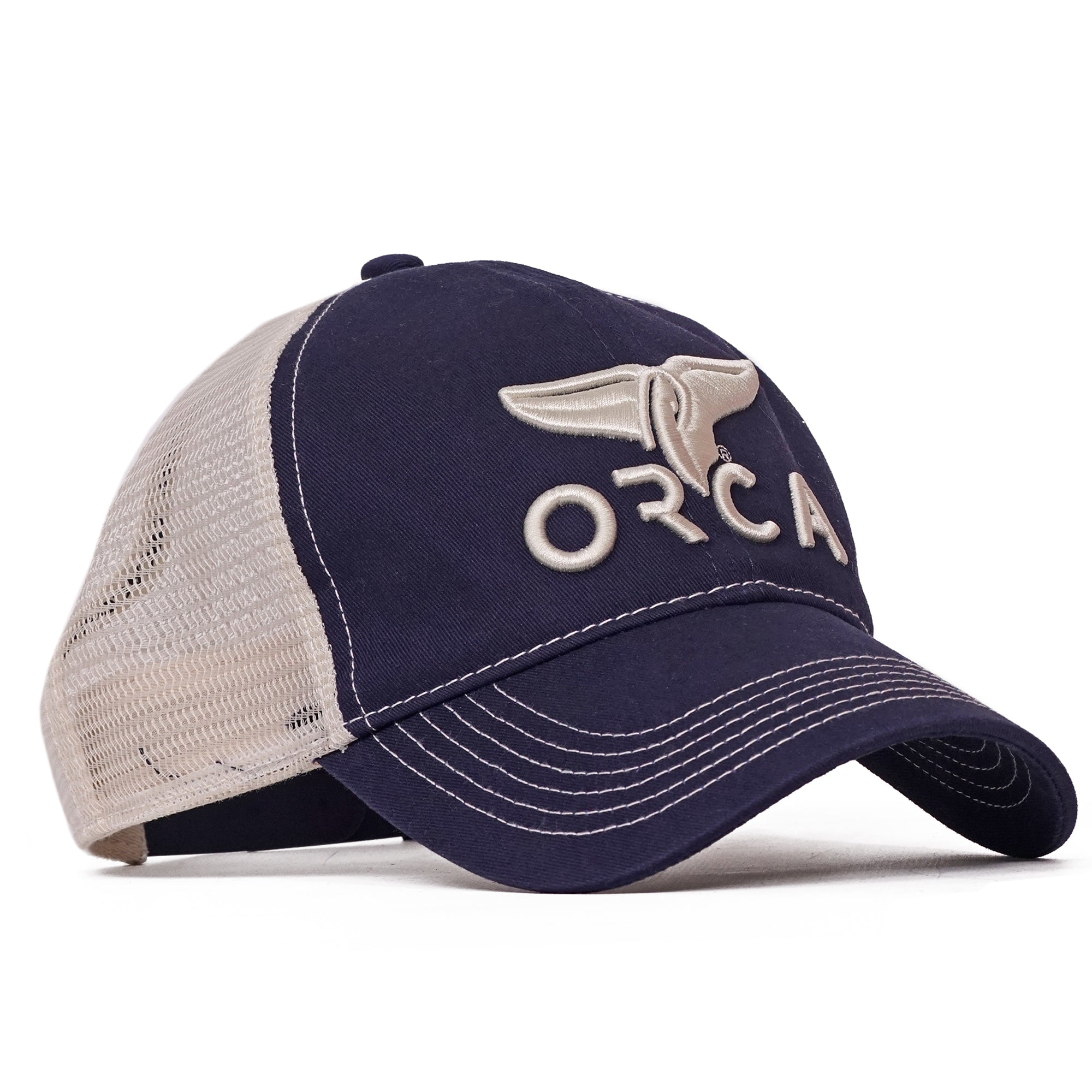 Navy Low Profile Trucker Hat