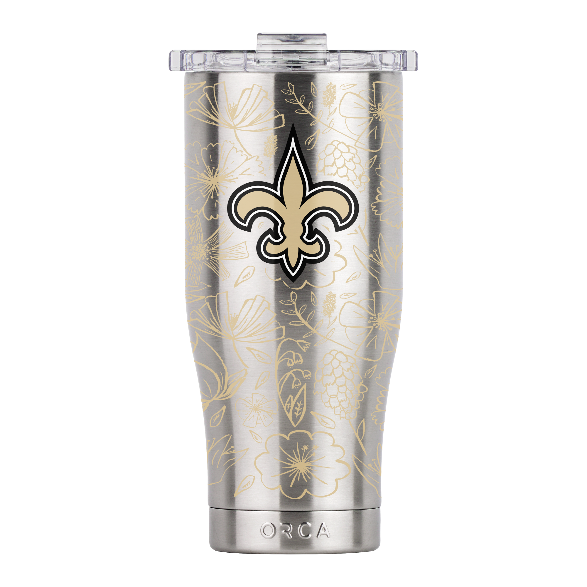 New Orleans Saints Floral Sketch Chaser 16 oz. - ORCA