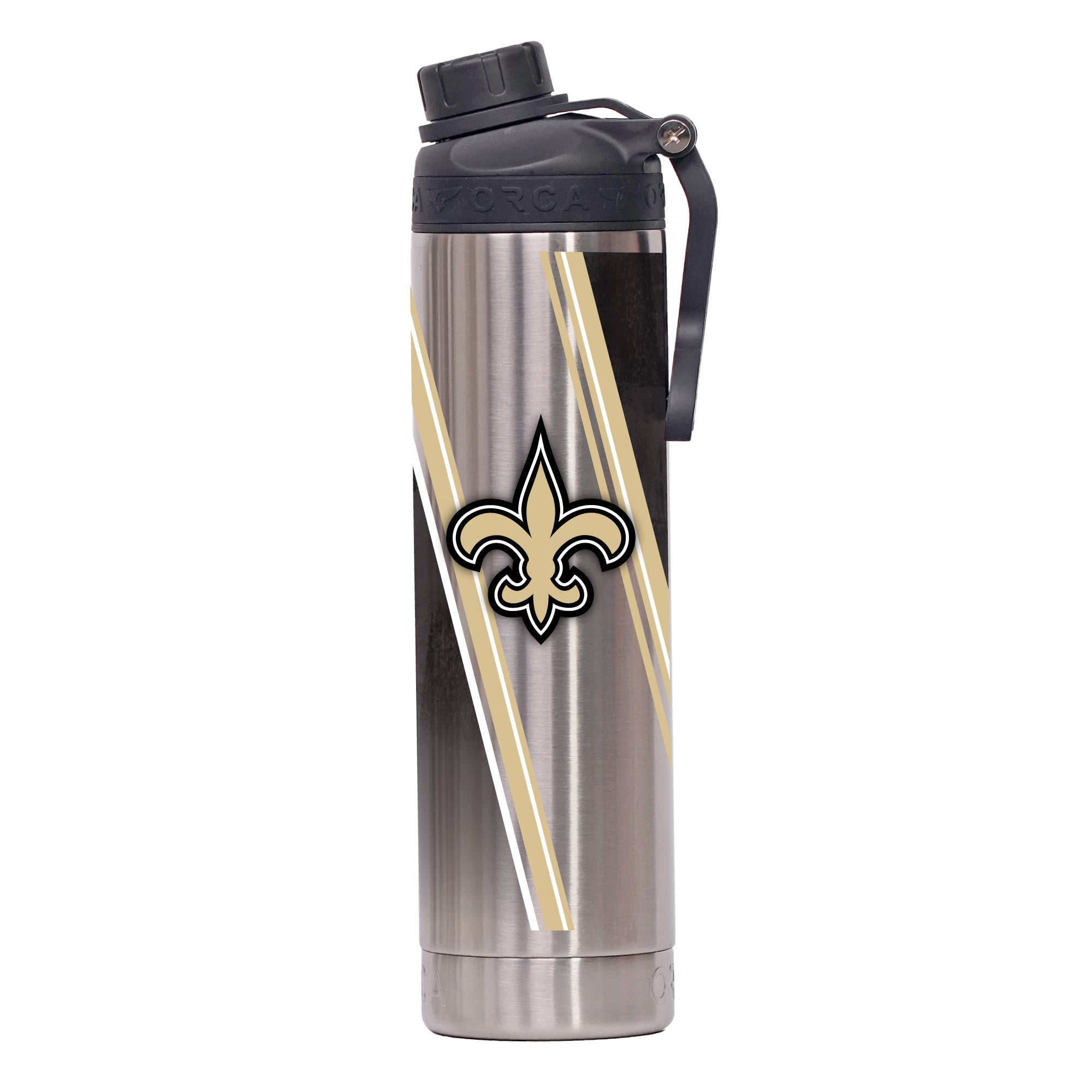 New Orleans Saints Double Stripe Wrap Hydra 22 oz. - ORCA