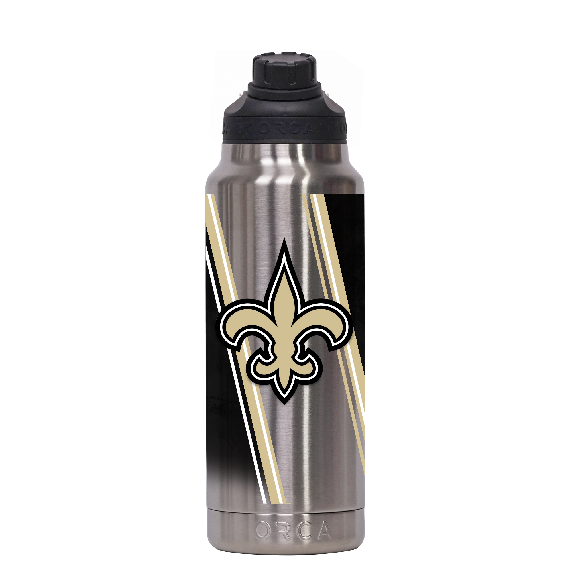 New Orleans Saints Double Stripe Wrap Hydra 34 oz. - ORCA