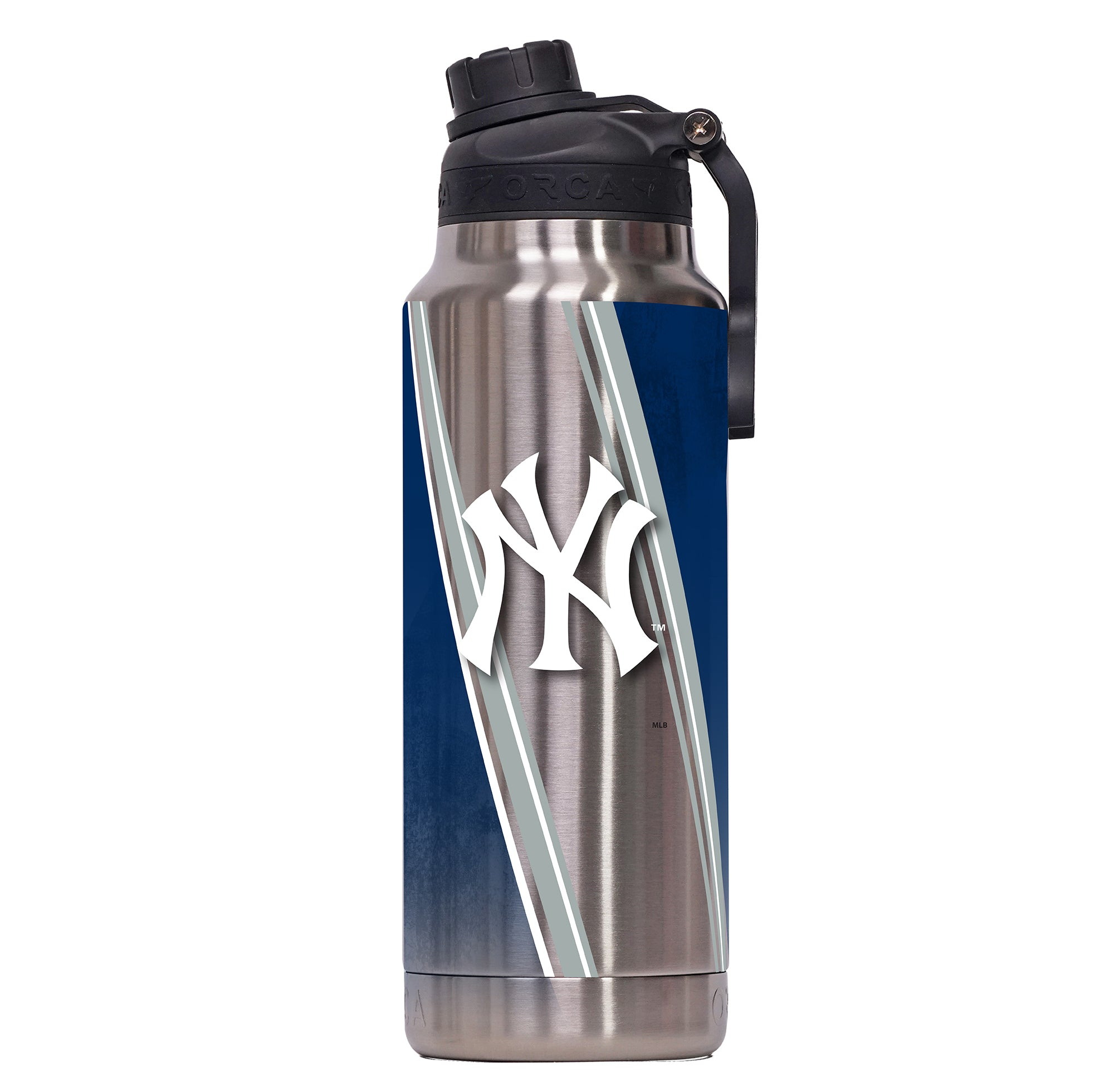 New York Yankees Double Stripe Wrap Color Logo Hydra 34oz - ORCA