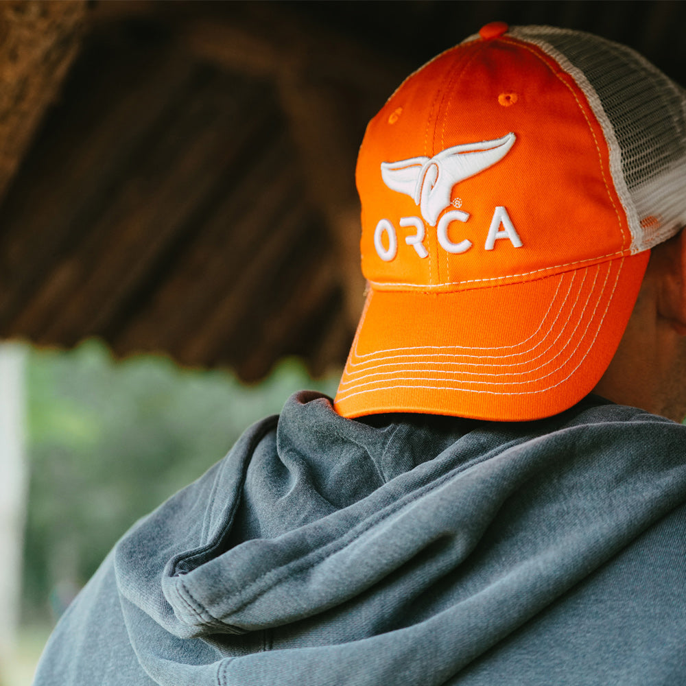Low Profile Trucker Orange Hat - ORCA