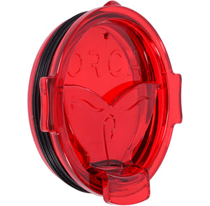 Red Whale Tail Flip Top Chaser Lid - ORCA