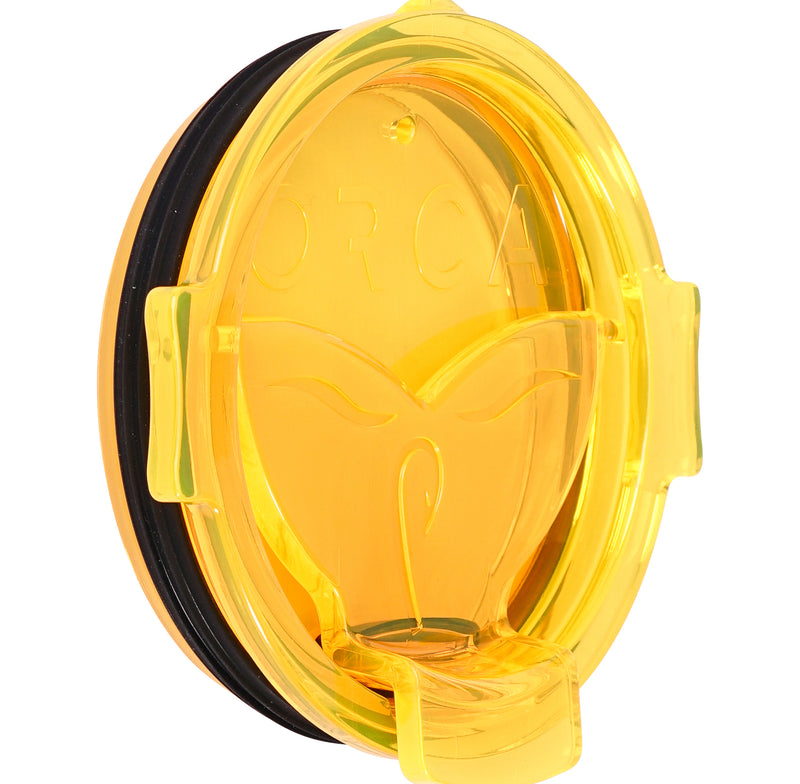 Yellow Whale Tail Flip Top Chaser Lid - ORCA