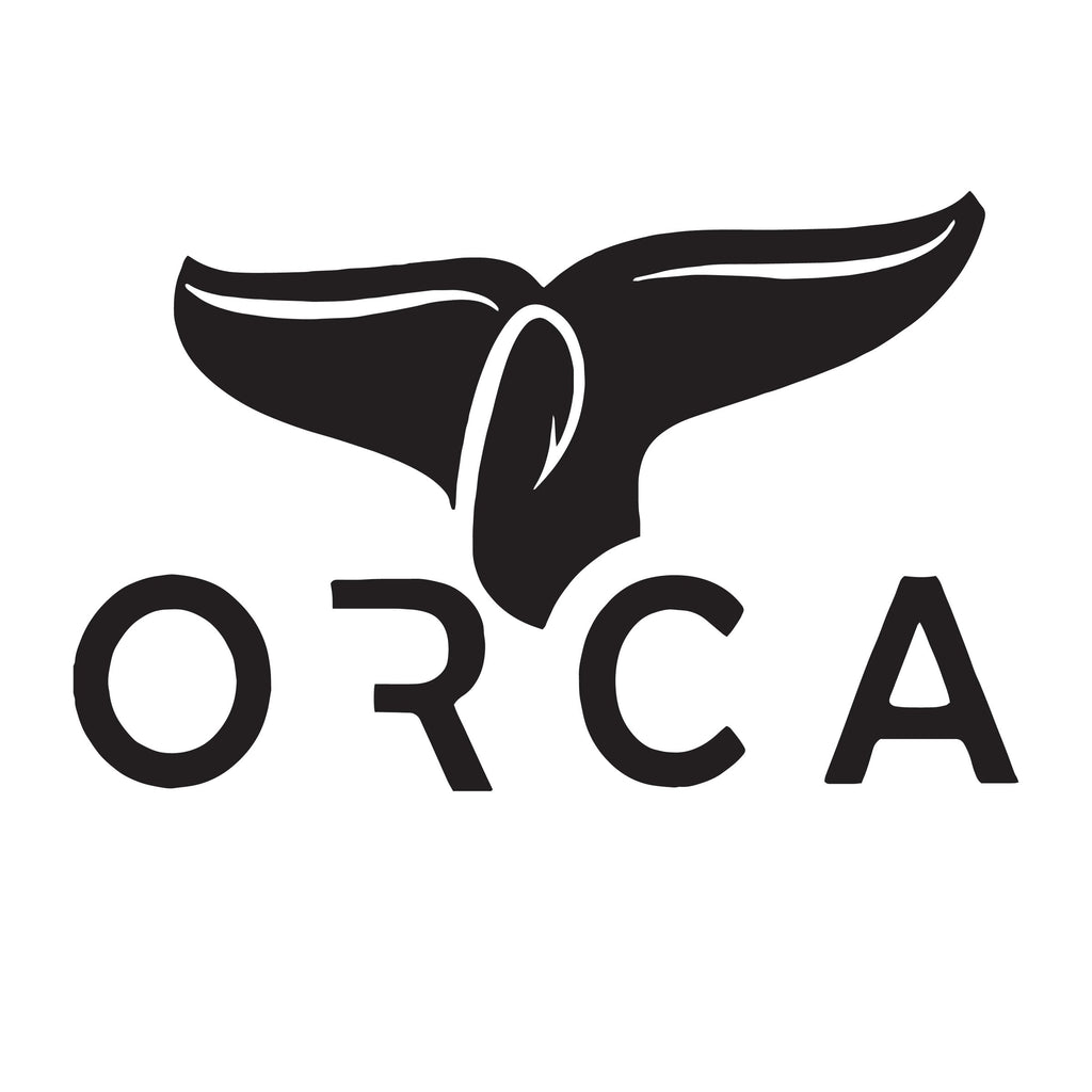 Black Whale Tail Window Decal - ORCA