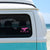 Pink Whale Tail Window Decal - ORCA