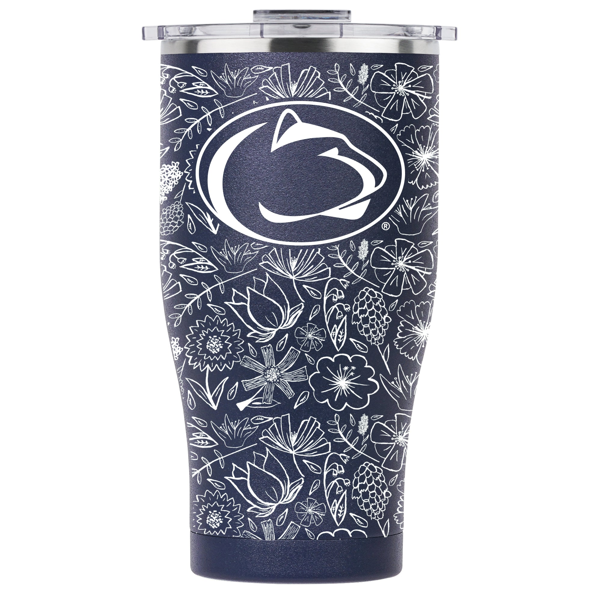 Chaser 27oz Navy/White Floral Sketch Penn State University - ORCA