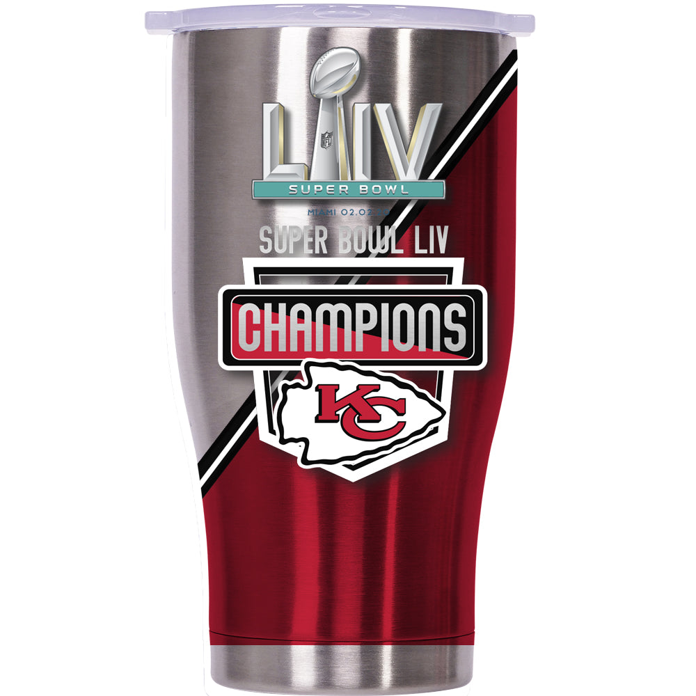 Super Bowl LIV Champs Kansas City Chiefs Chaser 27oz Stainless/White - ORCA