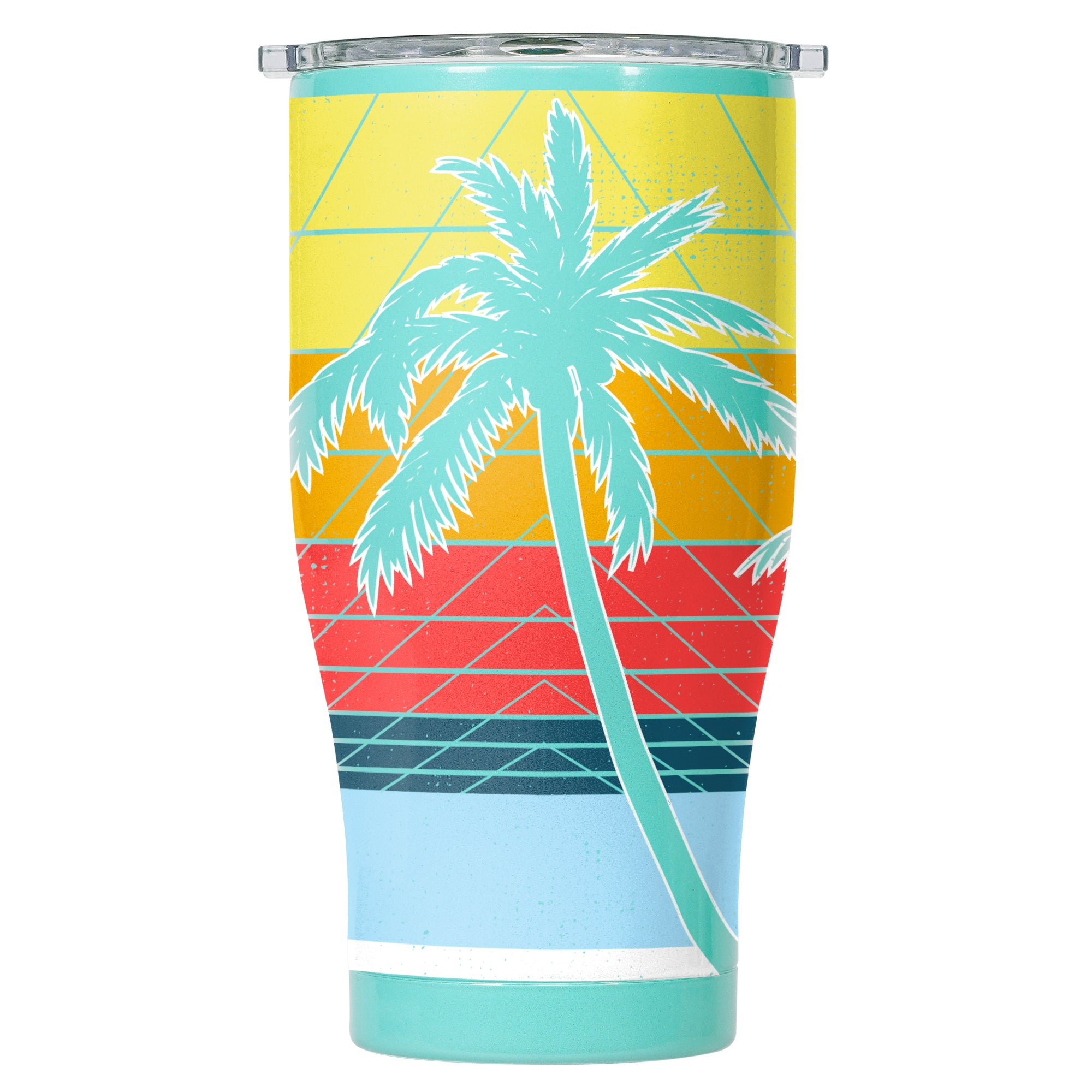 80's Palm Chaser 27oz Seafoam/Clear