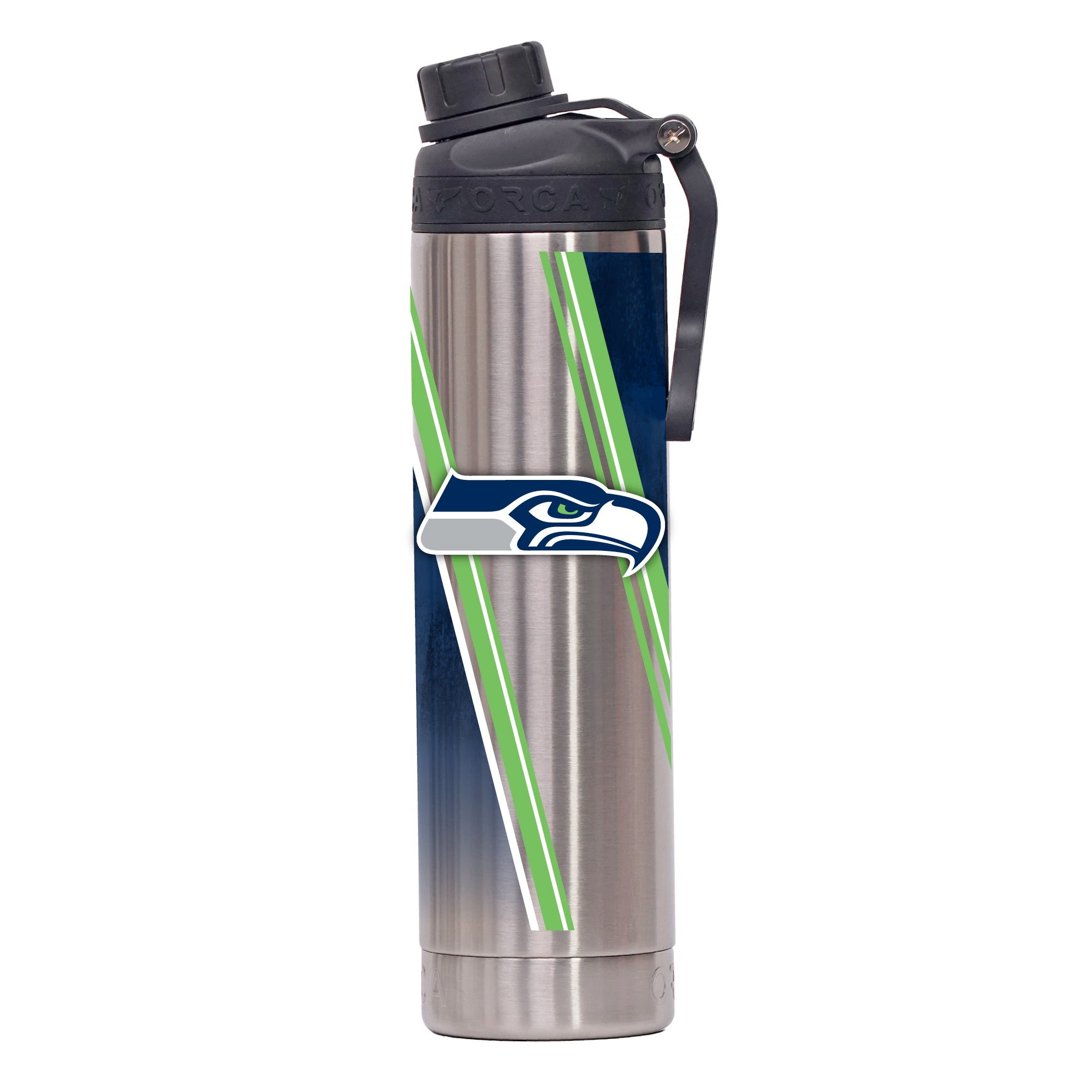 Seattle Seahawks Double Stripe Wrap Hydra 22 oz. - ORCA