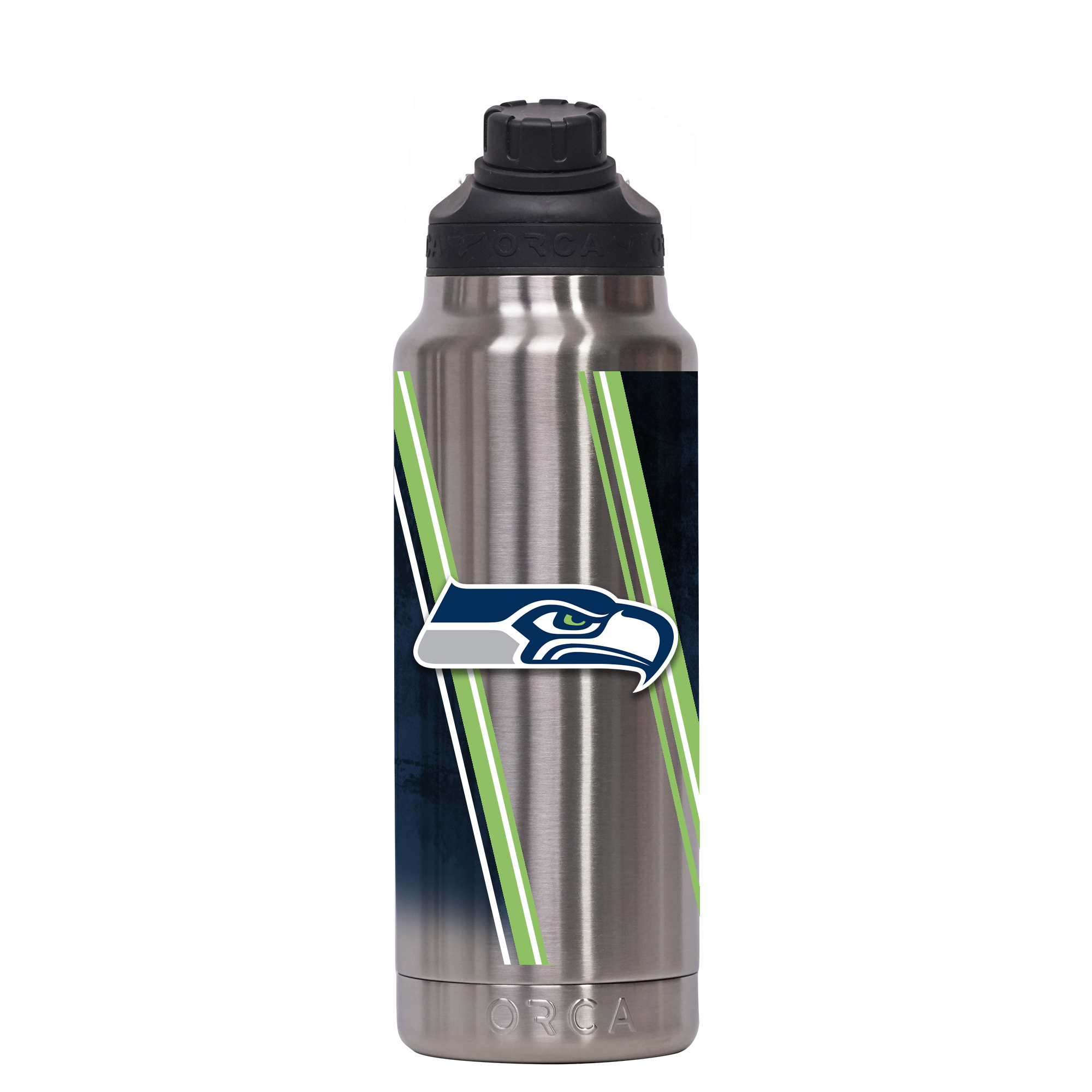 Seattle Seahawks Double Stripe Wrap Hydra 34 oz. - ORCA