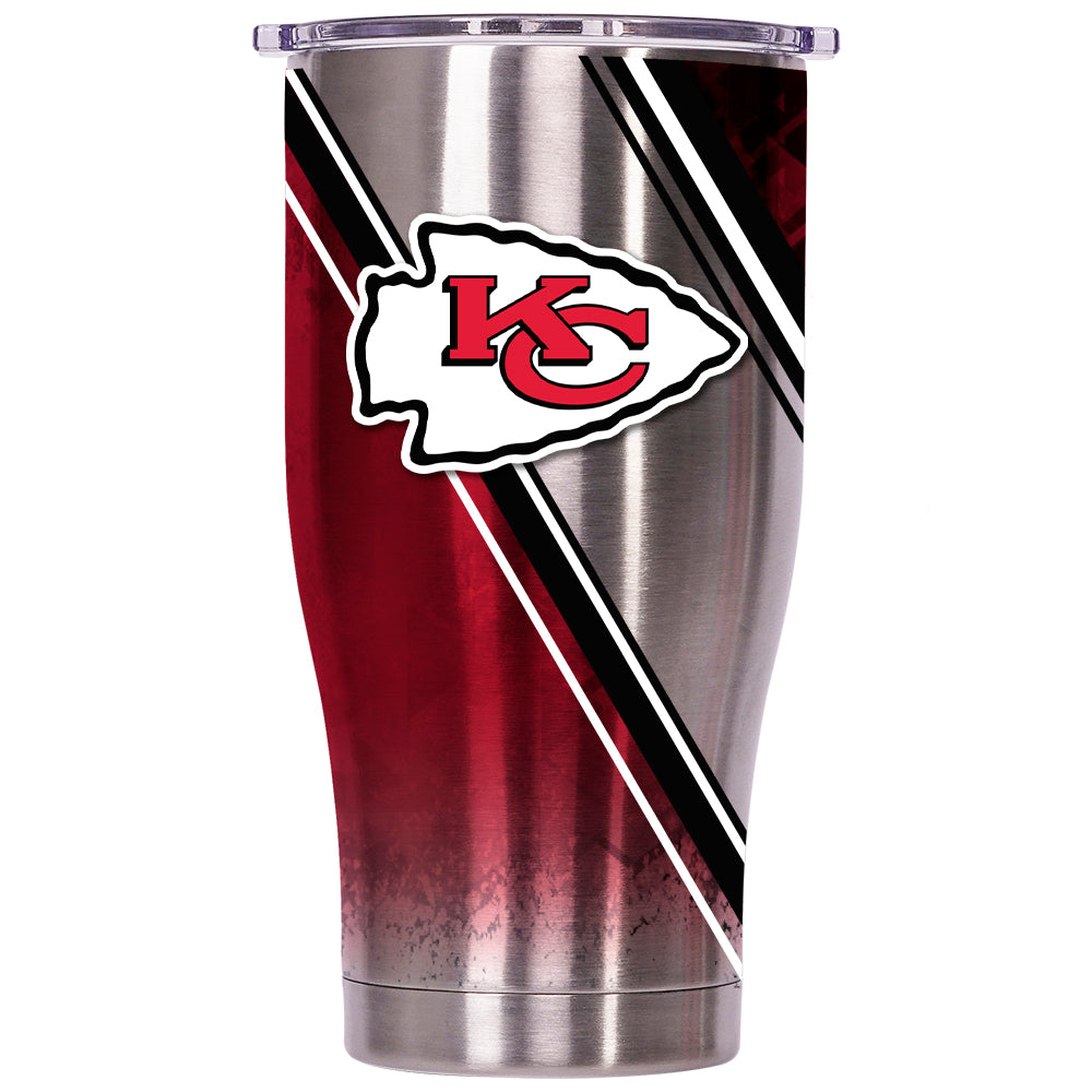 Kansas City Chiefs Double Stripe Wrap Chaser 27oz - ORCA