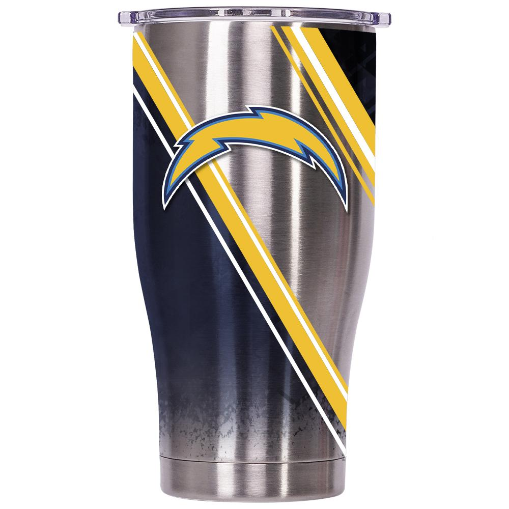 Los Angeles Chargers Double Stripe Wrap Chaser 27oz - ORCA