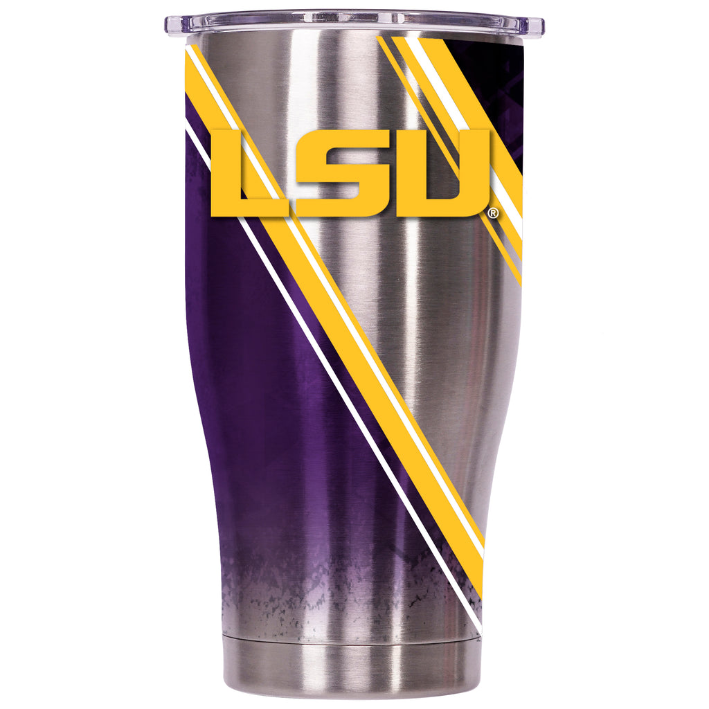 LSU Double Stripe Wrap 27oz Chaser - ORCA