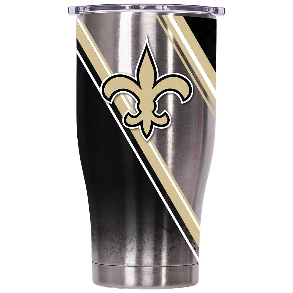 New Orleans Saints Double Stripe Wrap Chaser 27oz - ORCA
