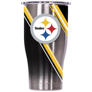 Pittsburgh Steelers Double Stripe Wrap Chaser 27oz - ORCA