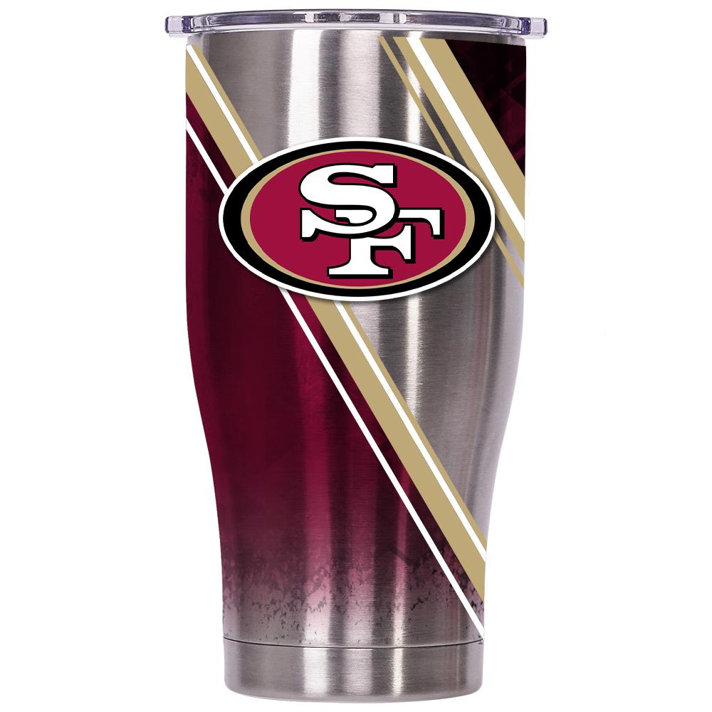 San Francisco 49ers Double Stripe Wrap Chaser 27oz - ORCA