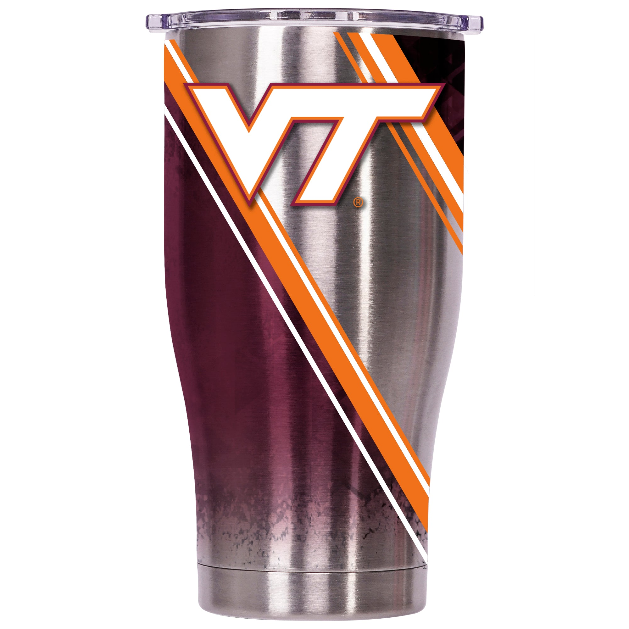 Virginia Tech Double Stripe Wrap 27oz Chaser - ORCA