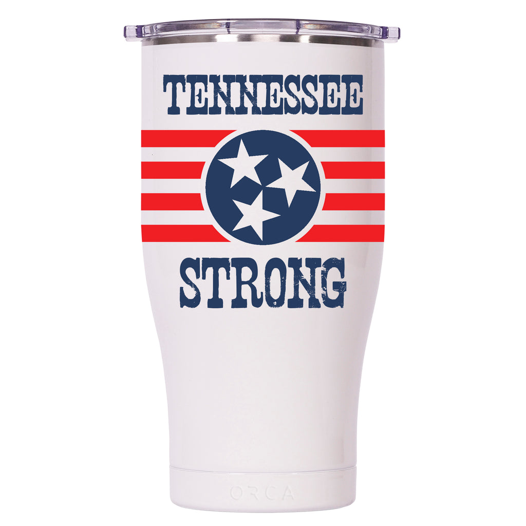 Tennessee Strong Pearl/Clear Chaser 27oz - ORCA