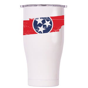 Tennessee State Flag Distressed Chaser 27oz - ORCA