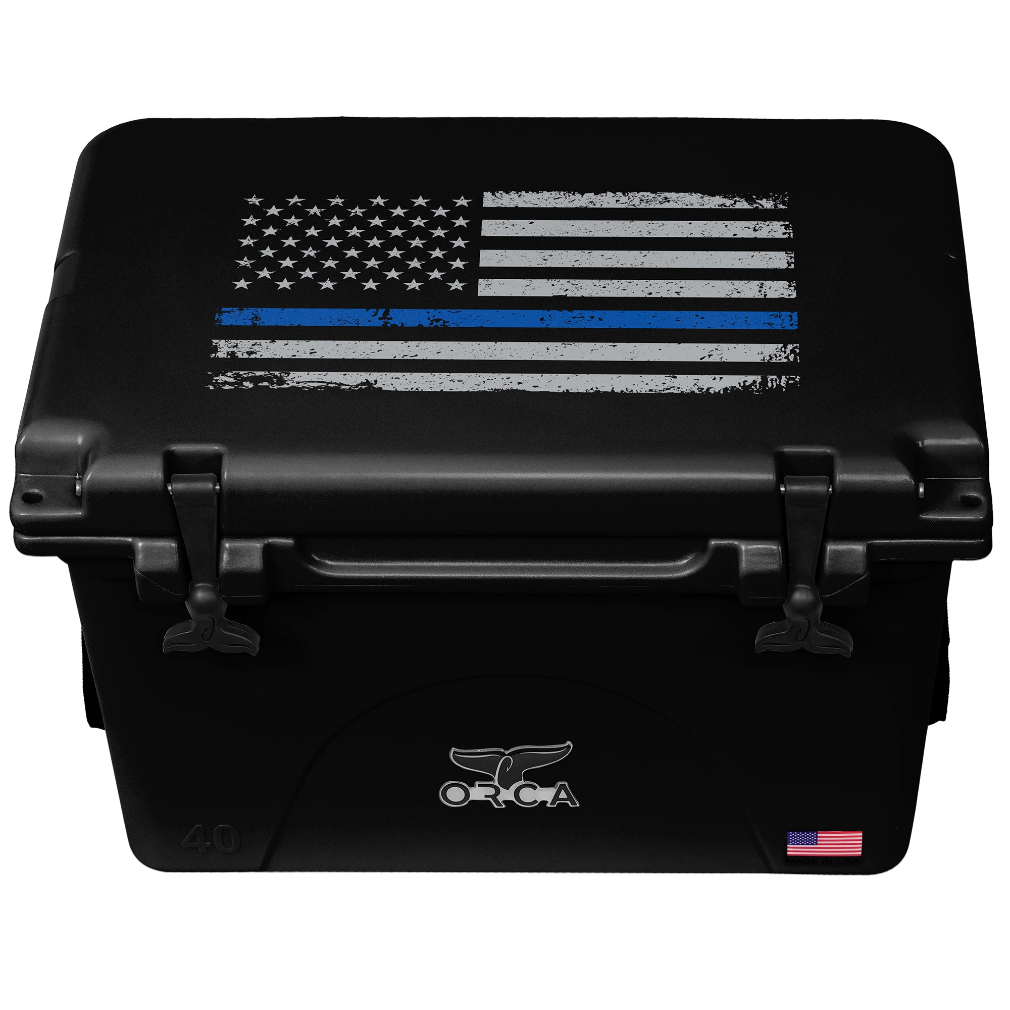 Thin Blue Line Black 40 Quart - ORCA