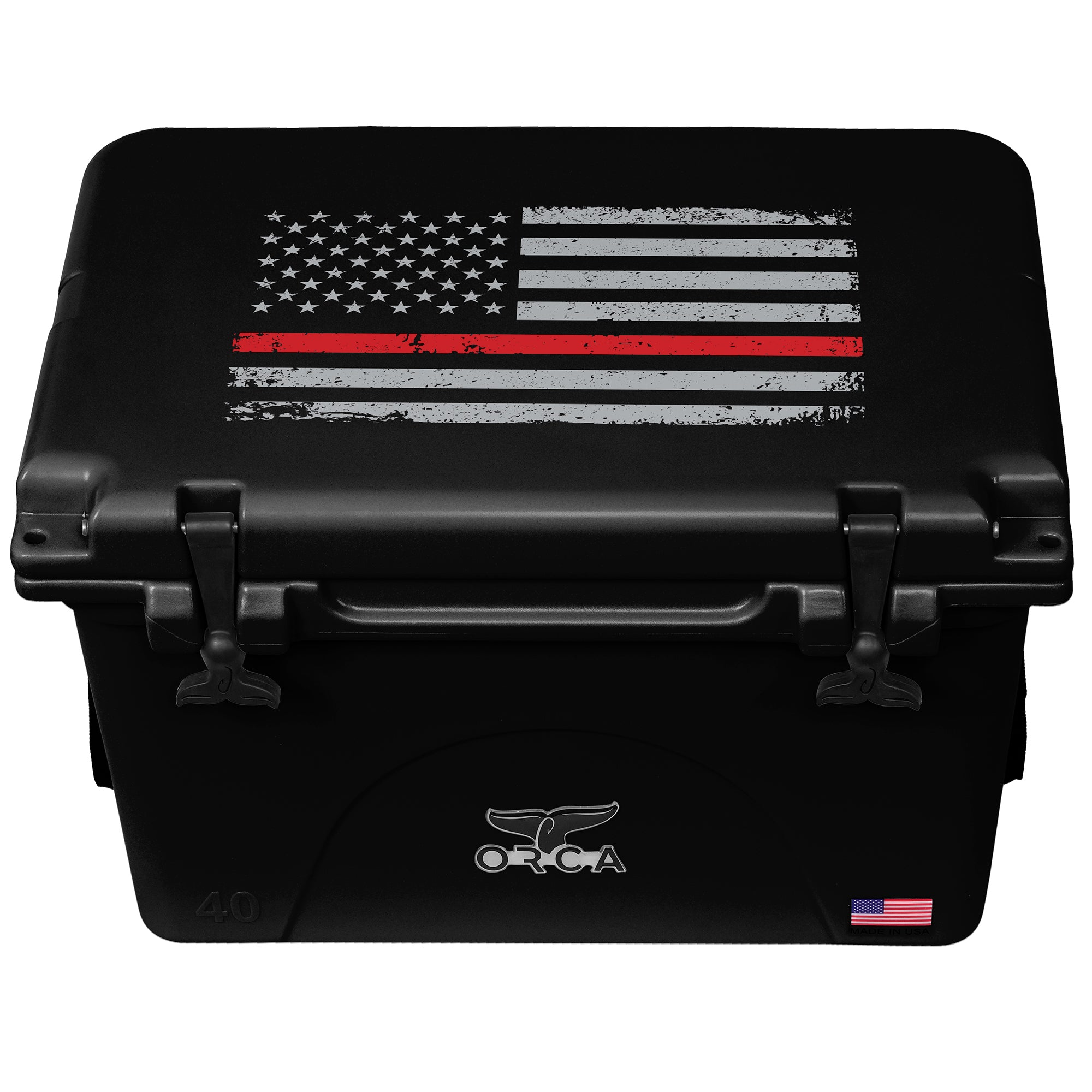 Thin Red Line Black 40 Quart - ORCA