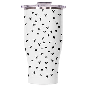 Mini Hearts Pearl/Clear Chaser 27oz - ORCA